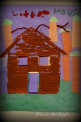 Paper Log Cabins