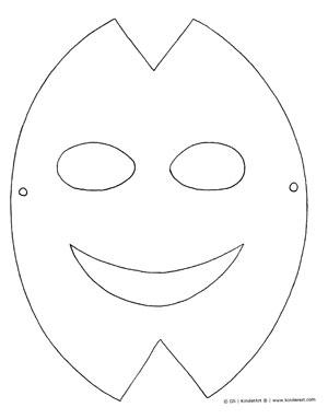 Print And Color Paper Mask KinderArt