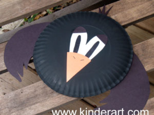 Paper Plate Crow Craft for Kids. KinderArt.com