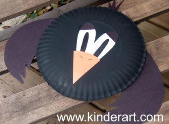 Paper Plate Crow Craft for Kids. KinderArt.com