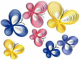 Paper quilling for kids.