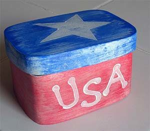Patriotic Box Craft. KinderArt.com