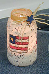 Patriotic Candle Jars craft for kids.