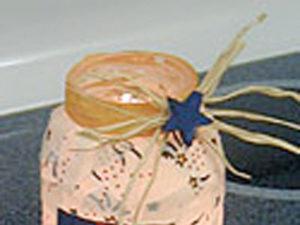 Patriotic Candle Jars craft for kids.