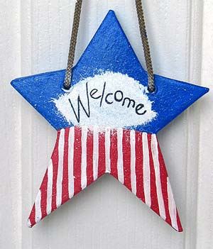 Patriotic Star Craft for Kids. KinderArt.com