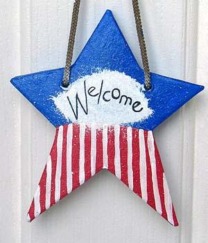 Patriotic Star Craft for Kids. KinderArt.com