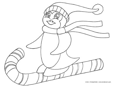 Penguin Coloring Pages - Free Printable for Kids | 299x400