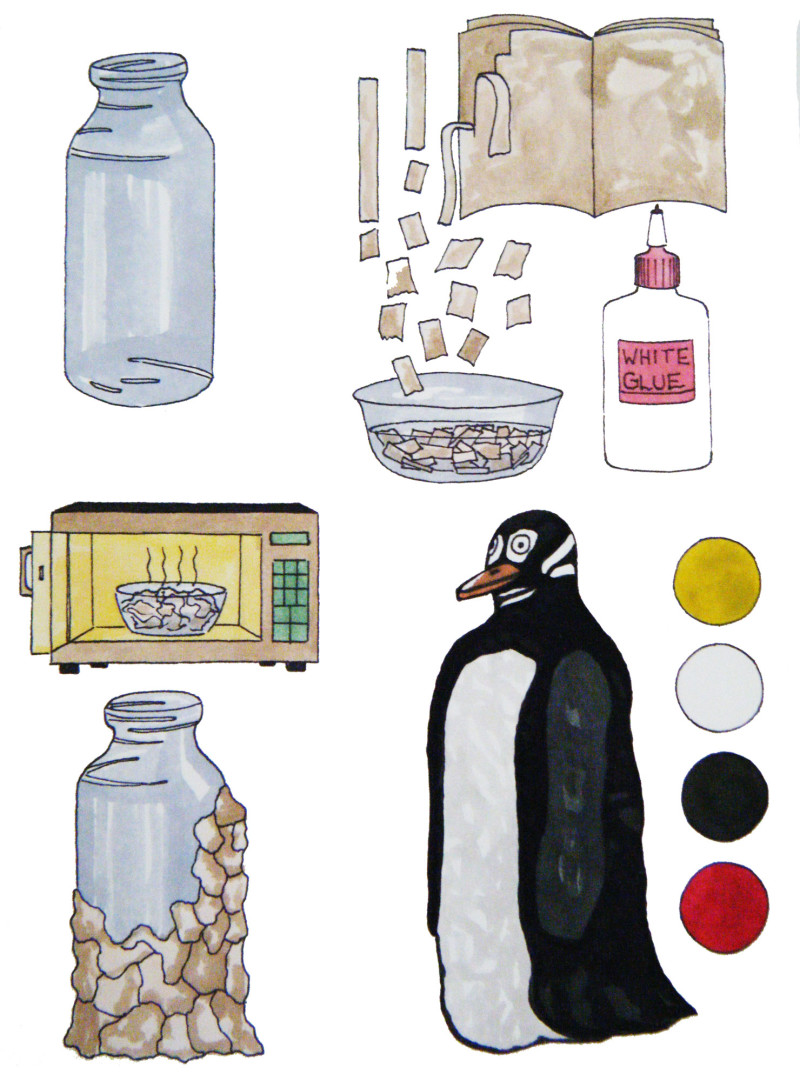 Juice Bottle Penguins from KinderArt.com