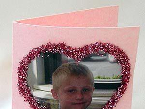 Heart-shaped photo card.