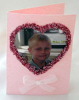 Heart-shaped photo card.