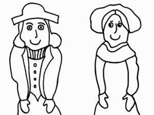 Pilgrim Dolls Craft from KinderArt.com