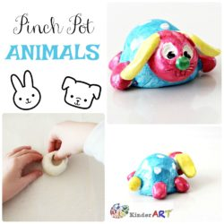 Make clay pinch pot animals