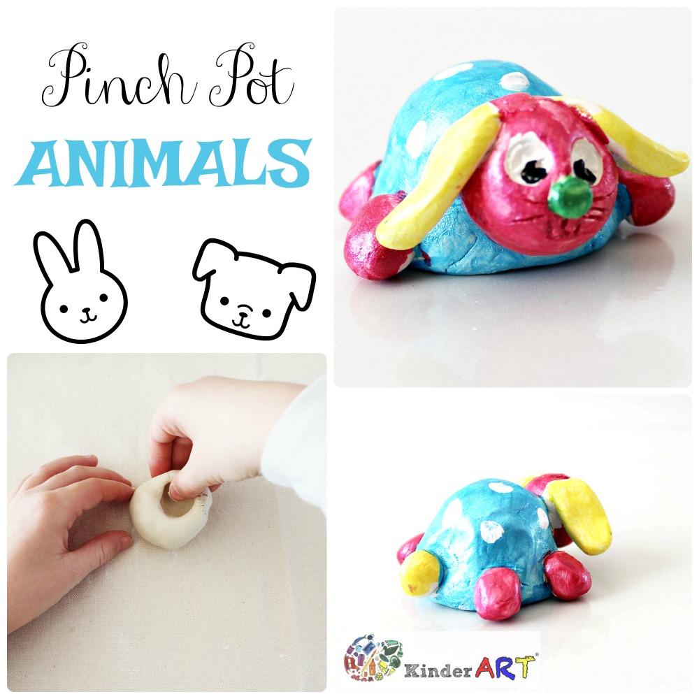 Make clay pinch pot animals