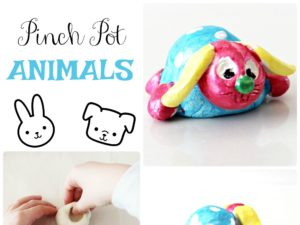 Pinch Pot Animals art lesson plan for children