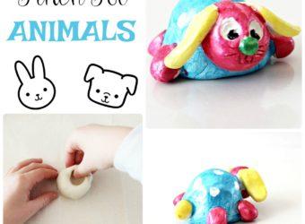 Pinch Pot Animals art lesson plan for children