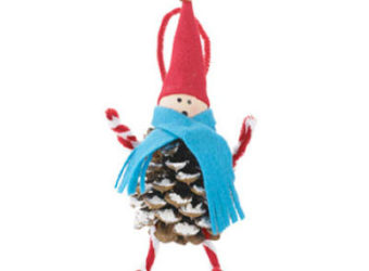 Pine Cone Elf craft for kids