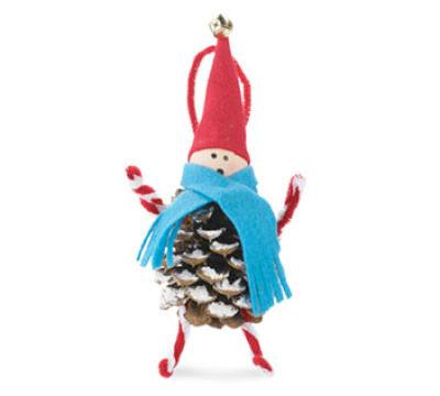 Pine Cone Elf craft for kids