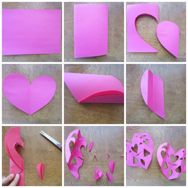 Making paper hearts. Faux Stained Glass Hearts Lesson Plan. KinderArt.com