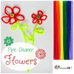 Make Pipe Cleaner Flowers. KinderArt.com