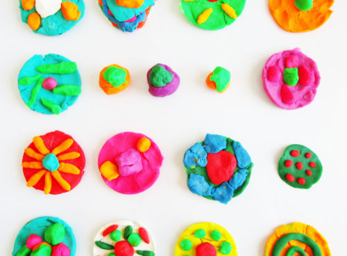Make homemade play dough. KinderArt.com.