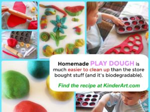 Play dough recipe and tips from KinderArt.com