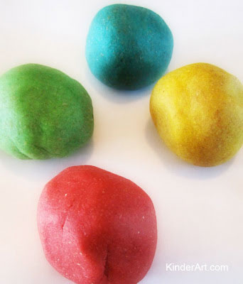 Homemade play dough.