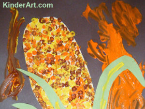Pointillism Corn Pictures. KinderArt.com