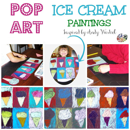 Students will learn about Andy Warhol and the pop art movement. They will then create pictures of ice cream cones.