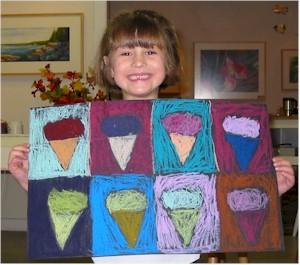 Pop art ice cream pictures