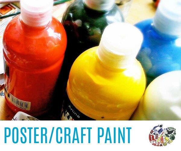 Poster, craft, tempera paint