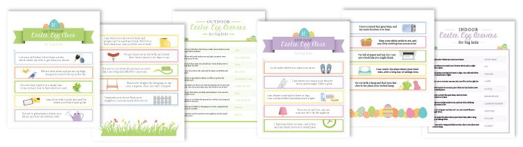 Create your own Easter Egg Scavenger Hunt. KinderArt.com.
