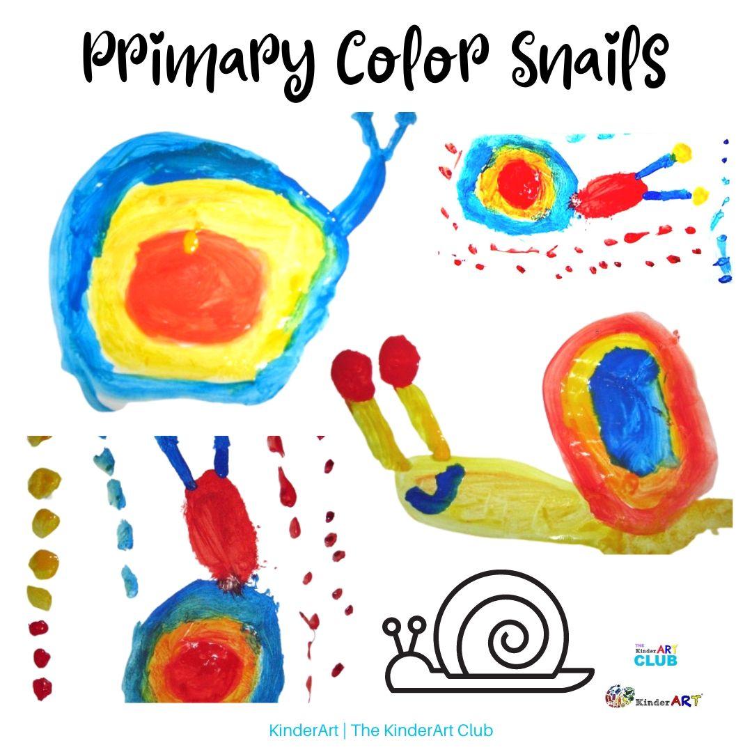 Primary Color Snails lesson plan