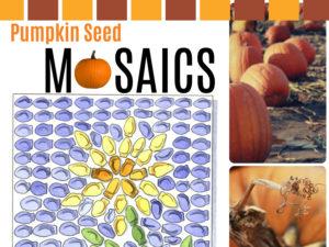 Pumpkin Seed Mosaics Lesson from KinderArt.com