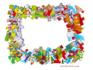 Puzzle piece picture frame.