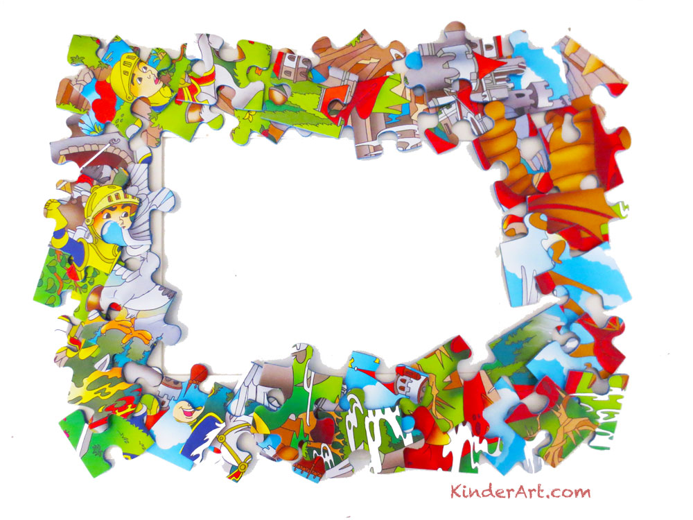 Puzzle Piece Picture Frame Lesson Plan: Recycling for Kids - Art on ...