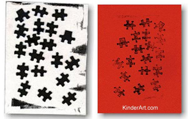 Puzzle Prints Lesson Plan Printmaking