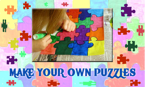 picture regarding Make Your Own Jigsaw Puzzle Printable identify Crank out Your Private Puzzles KinderArt