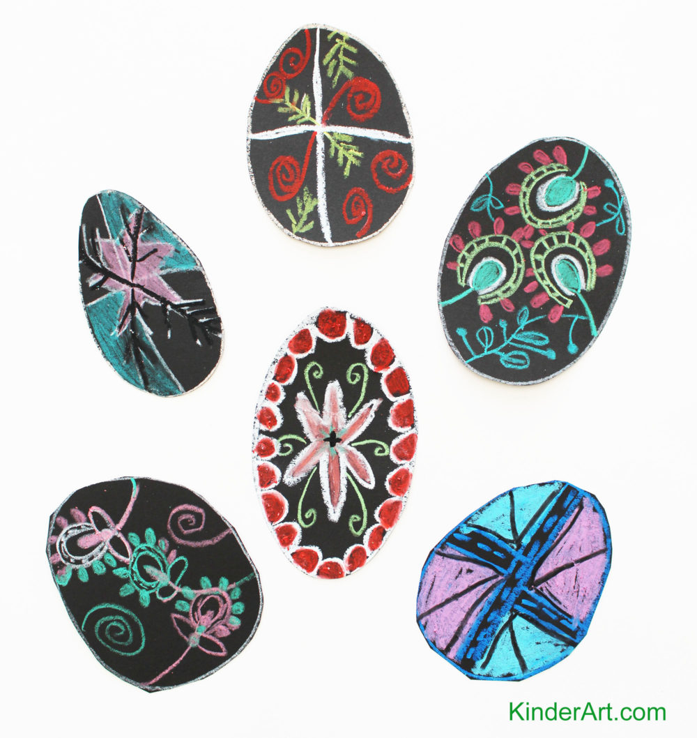 Pysanky drawing for children.
