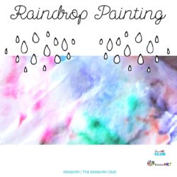 Raindrop Painting art lesson