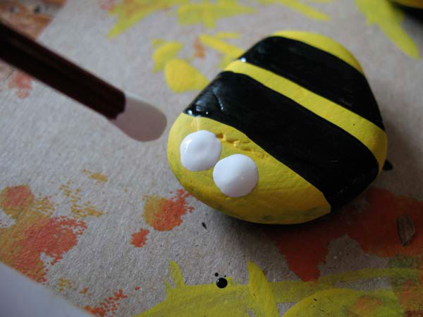 Make bees out of rocks.