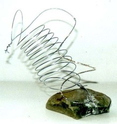 Rock and wire sculpture