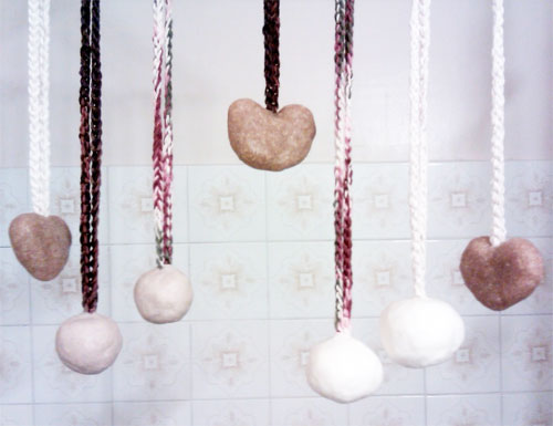 Make soap on a rope.