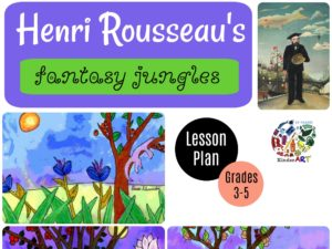 Henri Rousseau's Fantasty Jungles. Art lesson plan from KinderArt.com