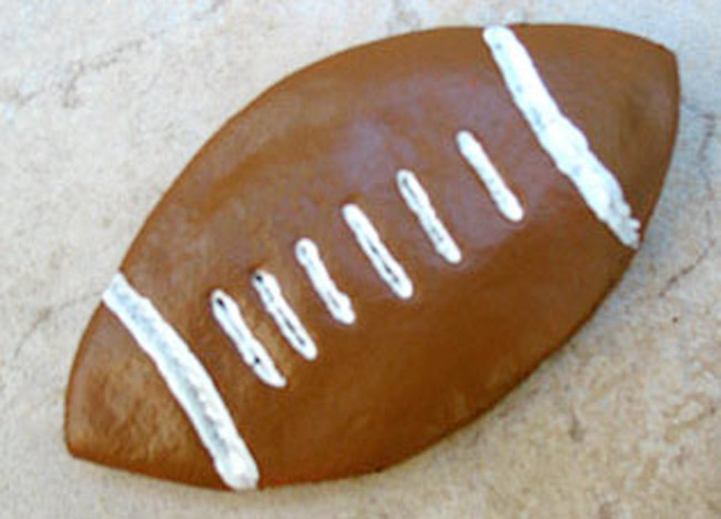 Salt dough football craft.