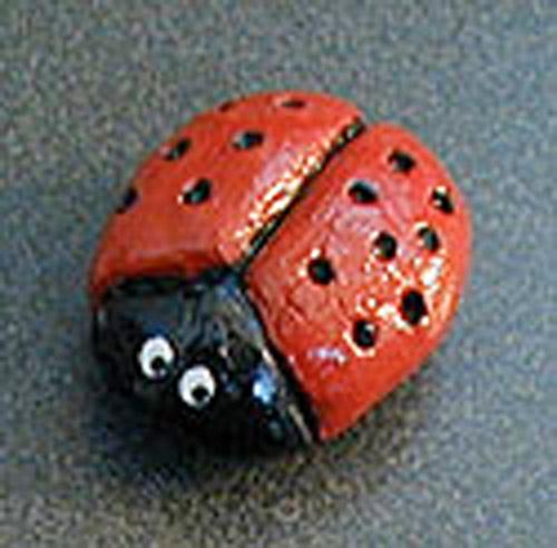 Salt Dough Ladybug