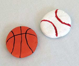Salt Dough Sports Magnets