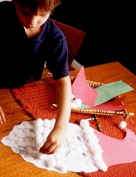 Santa countdown calendar craft for kids. KinderArt.com