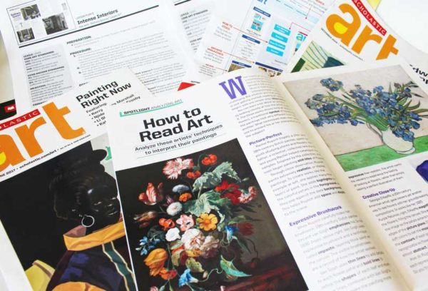 Scholastic Art Magazines