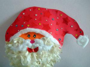 Scrap Materials Santa Craft. KinderArt.com