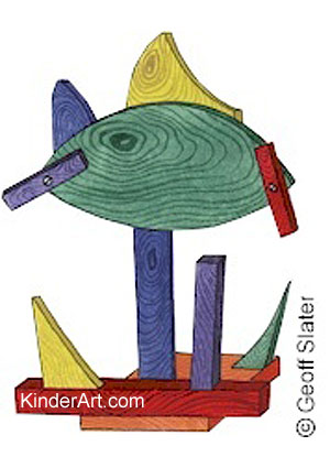 Scrap Wood Sculpture KinderArt